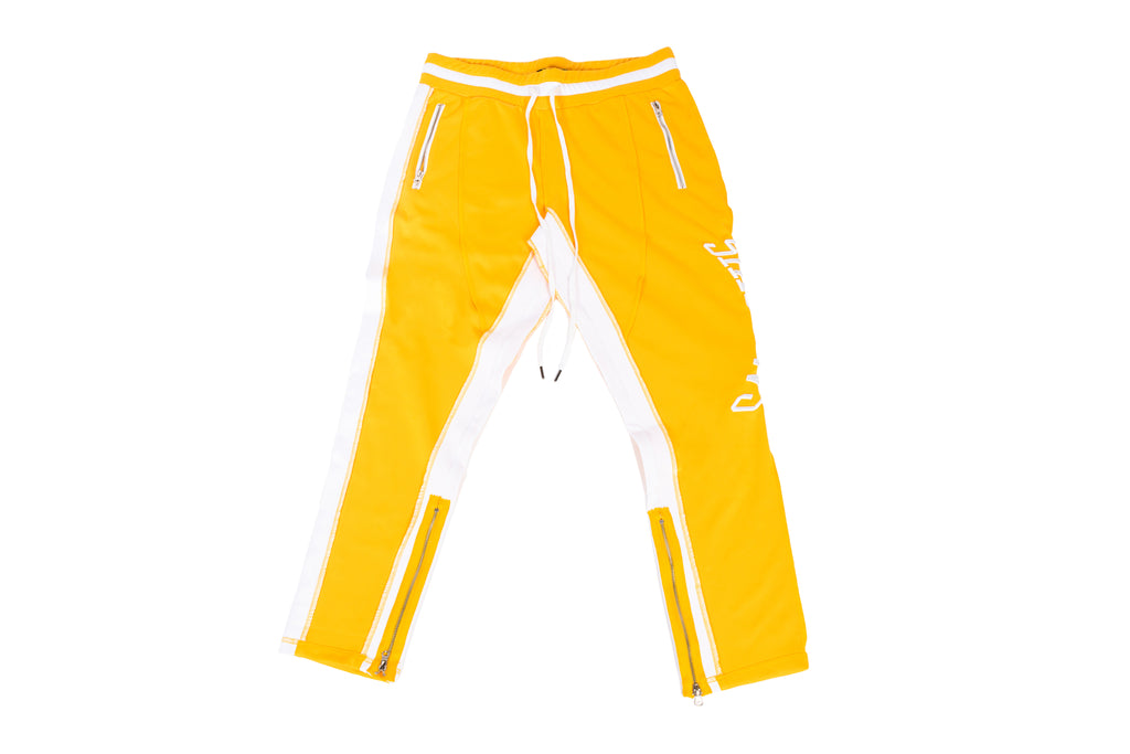 Renowned Shadows Reversed Track Pants - Yellow