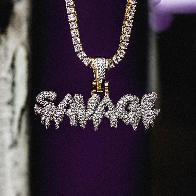 The GLD Shop Savage Pendant - Gold Plated