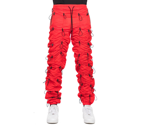 EPTM RED-ACCORDION PANTS
