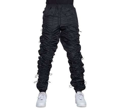 EPTM BLACK-ACCORDION PANTS