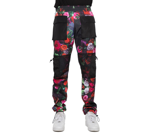EPTM FLOWER-WINDBREAKER MESH CARGO PANTS