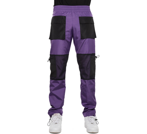 EPTM PURPLE-WINDBREAKER MESH CARGO PANTS