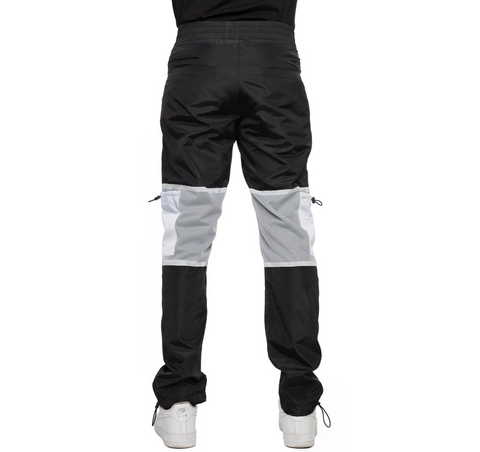 EPTM BLACK-WINDBREAKER MESH CARGO PANTS