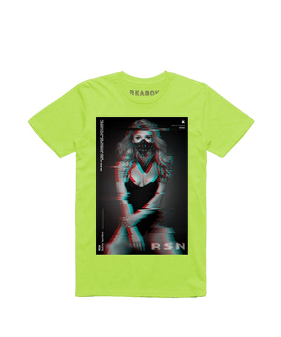 Reason Clothing Girl Glitch Tee - Neon