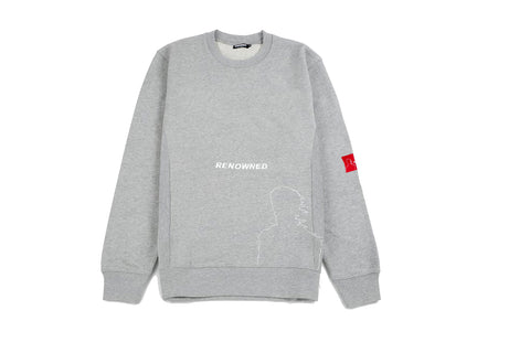 Renowned LA Faded Realities Crewneck - Grey