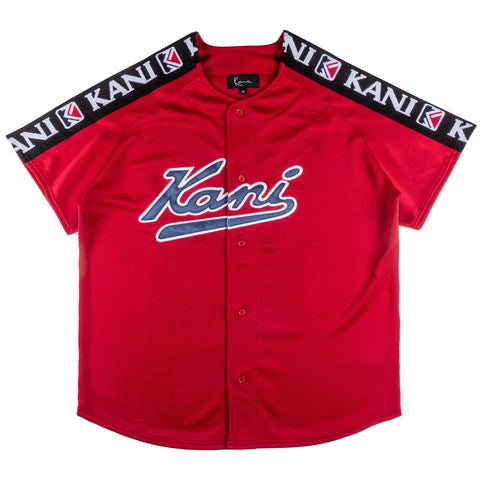 Karl Kani Worth Baseball Jersey - Red