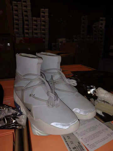 Fear High Top Sneakers Gray/White