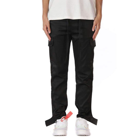 DSRCV BUTTON CARGO PANTS - BLACK