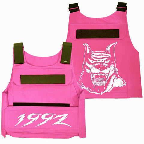 1992 Gear K-92 Unit Hot Pink Plate Vest