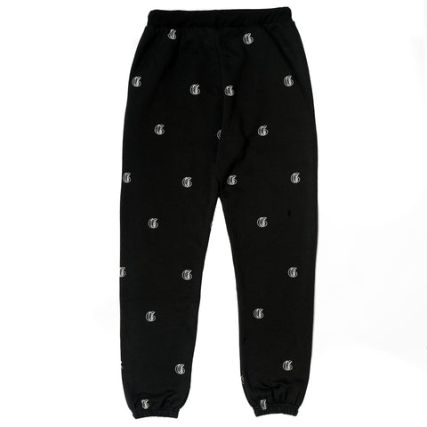 GVNMNT CLOTHING CO' 'INITIAL' BOTTOMS - BLACK