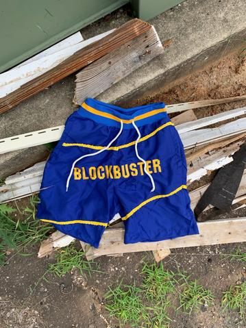 Hollywood Hunna Block Busta Shorts - Blue