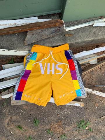 Hollywood Hunna VHS Shorts - Yellow