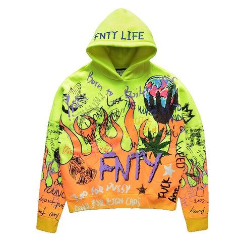 FNTY THE FNTY FLAME HOODIE - GREEN