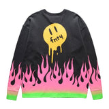 FNTY MELTING DOWN IN THE FLAME CREWNECK - BLACK