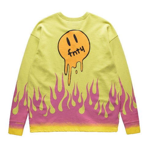 FNTY MELTING DOWN IN THE FLAME CREWNECK - YELLOW