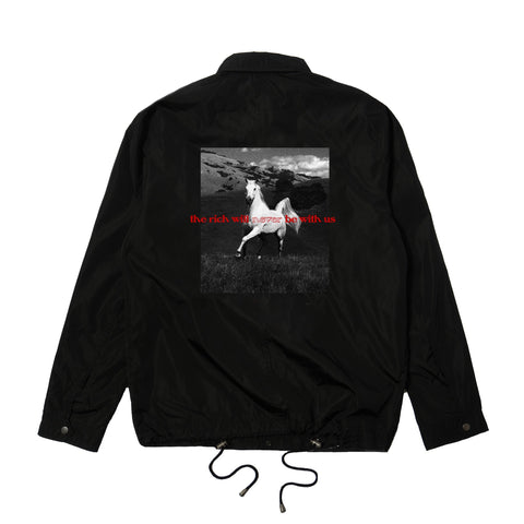 GVNMNT CLOTHING CO HORSEPLAY COACHES JACKET - BLACK