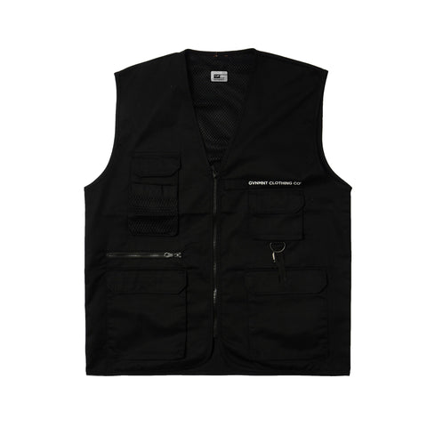 GVNMNT CLOTHING CO PRETENDERS UTILITY VEST - BLACK