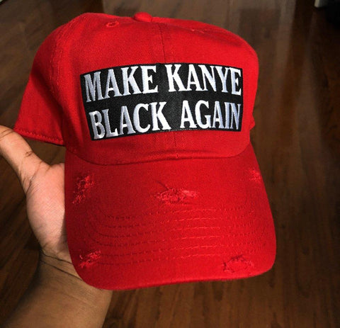 By Lee Apparel Make Ye Black Again Dad Hat - Red
