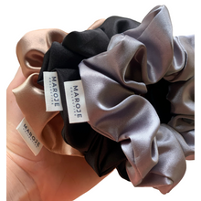 Load image into Gallery viewer, SATIN | Silver Scrunchie