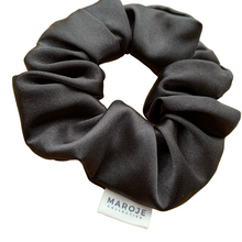 Load image into Gallery viewer, SATIN | Black Scrunchie