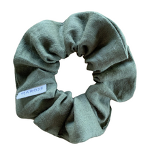 Load image into Gallery viewer, Linen | Leaf Scrunchie