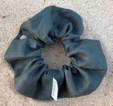 Load image into Gallery viewer, Linen | Olive Leaf Scrunchie