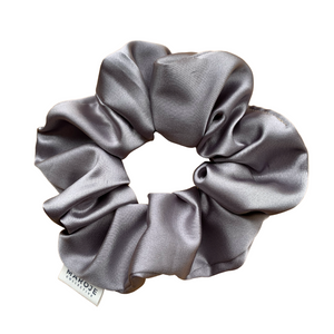 SATIN | Silver Scrunchie