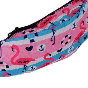 The Striped Anchor Flamingo Fanny Pack