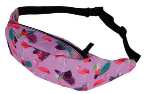 The Magenta Leaf Flamingo Fanny Pack