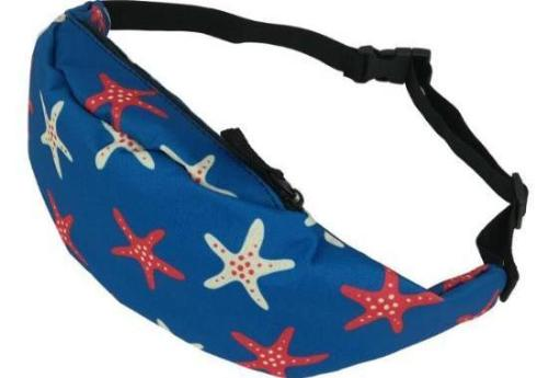 The Red White Blue Starfish Fanny Pack