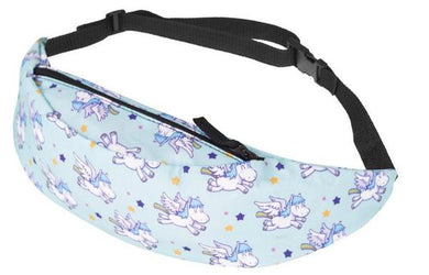 The Teal Blue Unicorn Fanny Pack