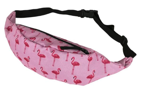 The Double Pink Flamingo Fanny Pack