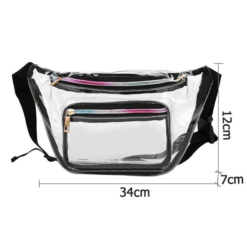 03290bc02ef0 Clear Transparent Plastic Fanny Pack