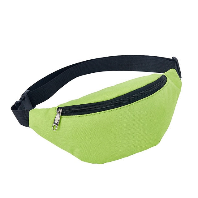 Green Single Pocket Waist Bag