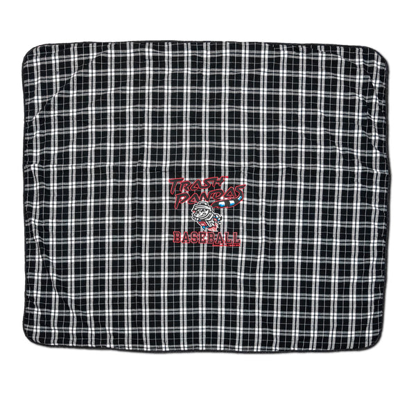 Black/White Trash Panda Baseball Blanket