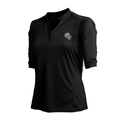 WOMEN'S 3/4 LS PRIMARY BLACK VNECK TOP