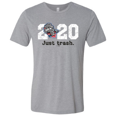 Just Trash 2020 Heather Grey Tri-blend T-Shirt