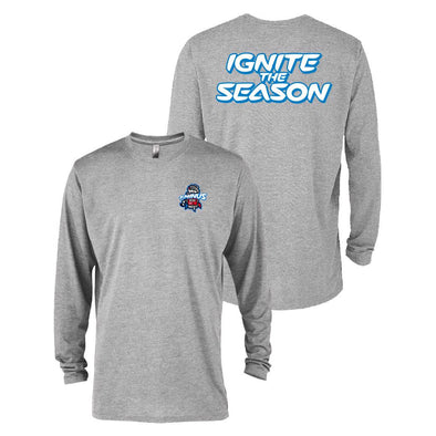 Heather Grey T-minus Ignite the Season Triblend Long Sleeve T-shirt