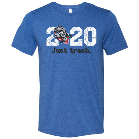 Just Trash 2020 Royal Tri-blend T-Shirt
