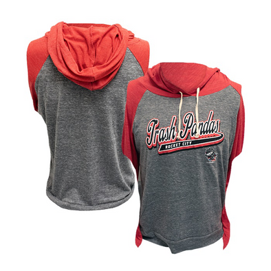 Ladies Red Tri-blend Hoodie T-shirt
