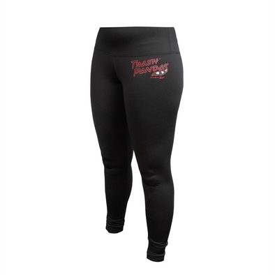 LADIES TRASH PANDAS BLACK JERSEY LEGGINGS