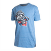 SHORT SLEEVE ROYAL ADULT PRIMARY DISTRESSED TEE