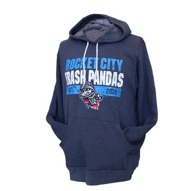Heather Grey/Navy Fleece Hooded Sweatshirt