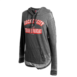 LADIES RCTP PRIMARY BLACK BURNOUT WASH JERSEY PULLOVER HOODIE