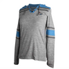 Antigua Ladies Long Sleeve Blue Grey Hoodie Home