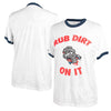 "Retro Mens White ""Rub Dirt On It"" Tee"