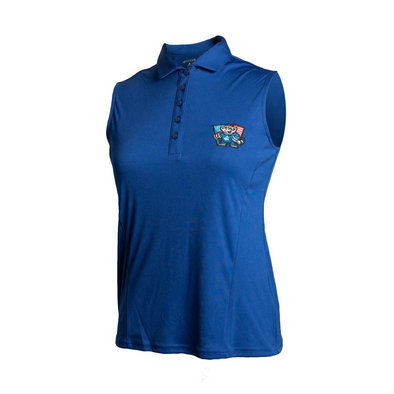 WOMEN'S SLEEVELESS ROYAL POLO FLAG TOP