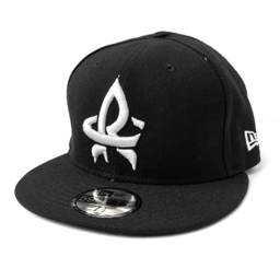 New Era 59-50 Low Profile Black w/ White RC Fitted Cap