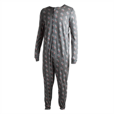 BXRCRAFT ADULT UNION SUIT BLK MULTI PRIMARY