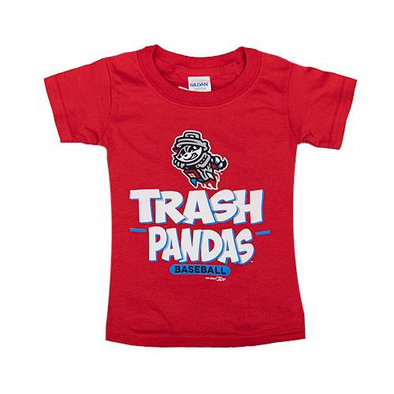 Toddler Red Trash Panda Baseball Tee